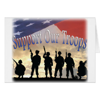 Cartão Apoie nossos soldados das tropas