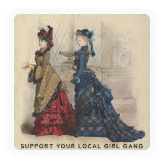 Cartão Apoie seu grupo local da menina