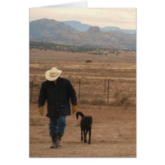 Cartão Apoio da simpatia & conforto - amante do cão do