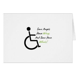 Cartão Apoio do amor da cadeira de rodas do presente da
