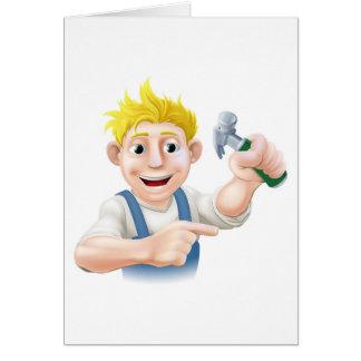 Cartão Apontar da cara da construção