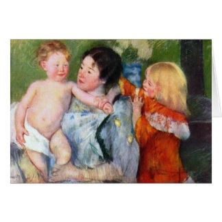 Cartão Após o banho por Mary Cassatt