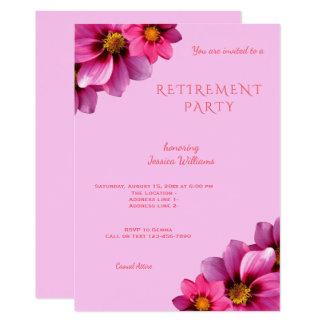 Cartão Aposentadoria de canto decorativa elegante das