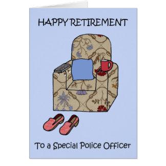Cartão Aposentadoria feliz do agente da polícia