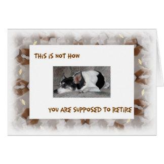 Cartão Aposentadoria, imagem sonolento do cão