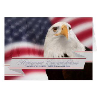 Cartão Aposentadoria militar - parabéns feitos sob