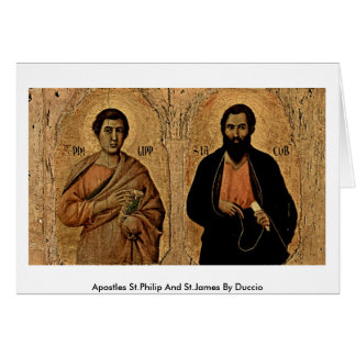 Cartão Apóstolos St Philip e St James por Duccio