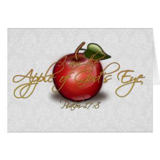 Cartão Apple do olho do deus, cristão
