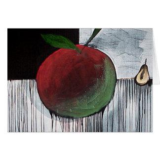 Cartão Apple e pera por Gregory Gallo