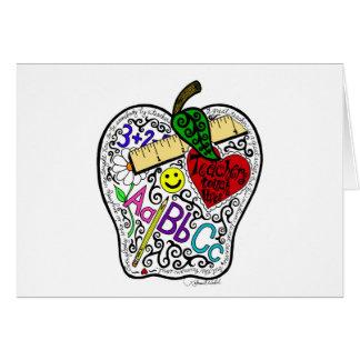 Cartão Apple para o professor