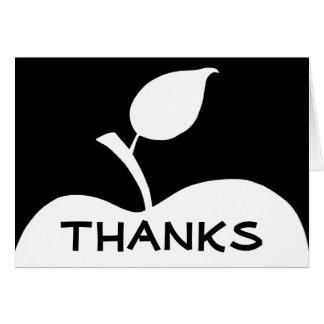 Cartão Apple preto e branco agradece-lhe