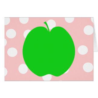 Cartão Apple verde com fundo manchado