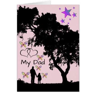 Cartão Apreciação do dia dos pais da menina do pai