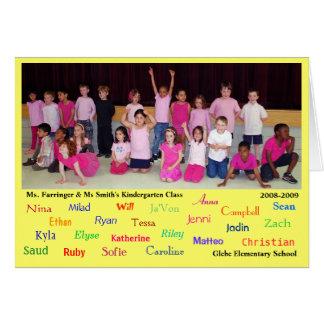 Cartão Apreciação do professor de jardim de infância -