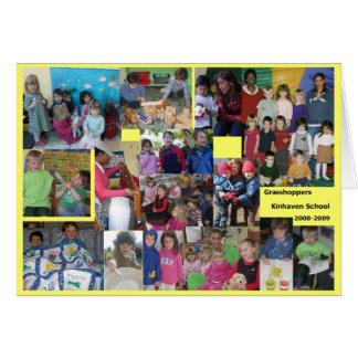 Cartão Apreciação dos gafanhotos - Senhora Lauren