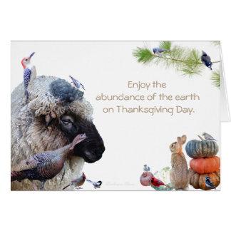 Cartão Aprecie a abundância da terra: HappyThanksgiving