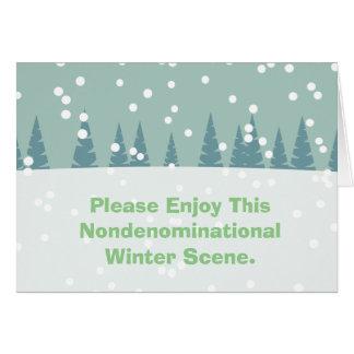 Cartão Aprecie por favor esta cena Nondenominational do