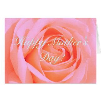 Cartão Aprecie sua mãe do dia! Pique cor-de-rosa
