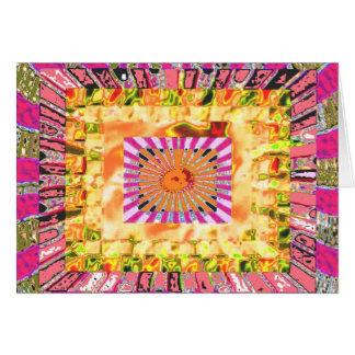 Cartão Apresentação artística da luz do sol e da colagem