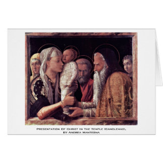 Cartão Apresentação do cristo no templo (Candlemas),