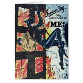 Cartão Apresentando as aventuras de MIM!