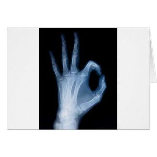 Cartão aprovação do raio x