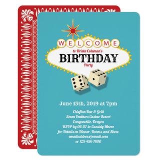 Cartão Aqua da festa de aniversário do famoso de Las