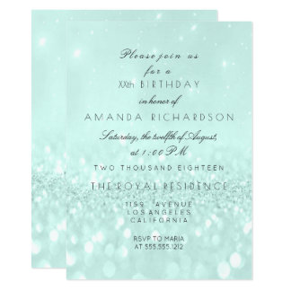 Cartão Aqua Pastel delicado de Tiffany do brilho nupcial