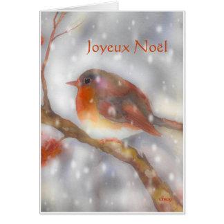 Cartão aquarelle do noel do joyeux