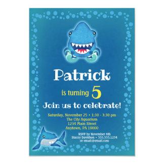 Cartão Aquário da festa de aniversário dos meninos do