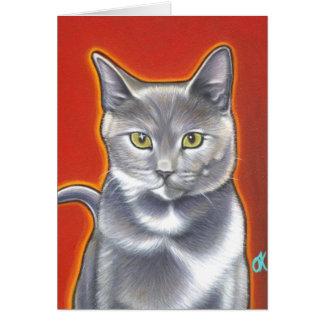 Cartão Aqui gatinho do gatinho!