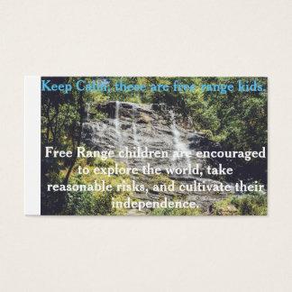 Cartão ar livre das crianças