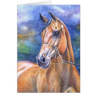 Cartão árabe do cavalo