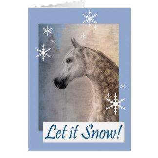 Cartão árabe do Natal ou do feriado do cavalo