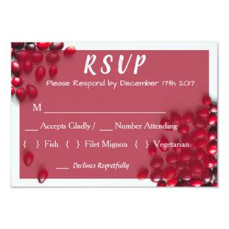 Cartão Arando elegante do país que Wedding RSVP