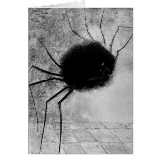 Cartão Aranha de sorriso por Odilon Redon, vintage o Dia
