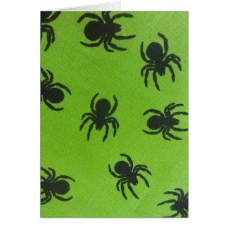 Cartão Aranhas assustadores