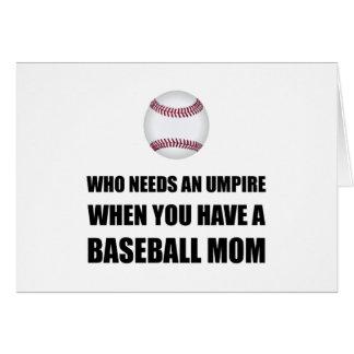 Cartão Arbitre quando mamã do basebol