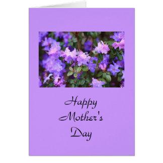 Cartão arbusto de florescência da azálea do puple