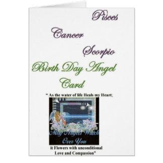 Cartão Arcanjo dos peixes, cancer de Gabriel, Escorpião