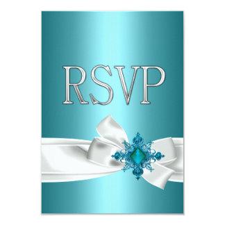 Cartão Arco branco de prata azul RSVP da 15a cerceta de
