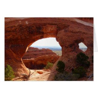 Cartão Arco da separação no parque nacional dos arcos