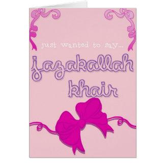 Cartão arco do khair do jazakallah