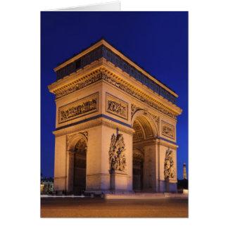 Cartão Arco do Triunfo