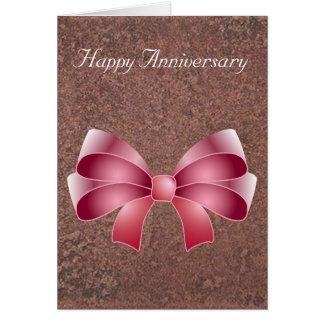 Cartão Arco dos metais do castelo do aniversário