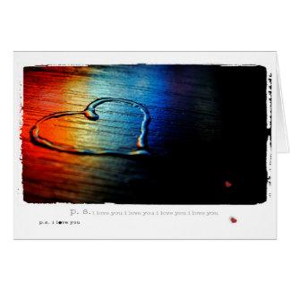 Cartão Arco-íris alegre do amor