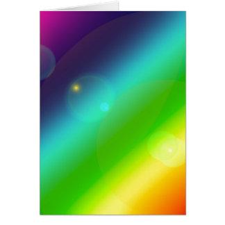 Cartão Arco-íris borbulhante