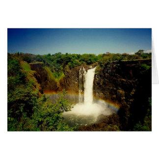 Cartão arco-íris de Cataratas Vitória