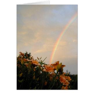 Cartão Arco-íris do lírio de dia