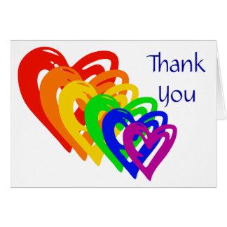 Cartão Arco-íris dos corações